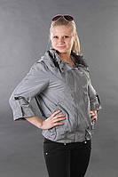 Куртка женская стильная на весну V 47 серая