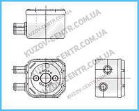 Маслянный радиатор Ауди  (Audi)DI A4 95 -99  (B5)/A6 97 -05  (C5) производитель NRF