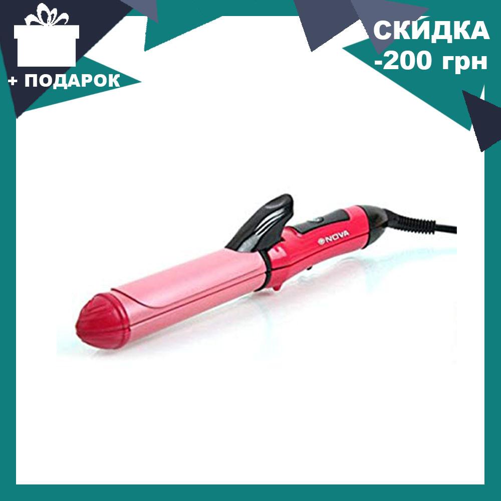 Плойка - утюжок для волос 2 в 1 Nova NHC | выпрямитель щипцы Нова 2009