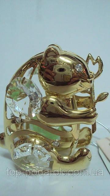 Статуэтка с камнями сваровски мишка