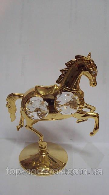 Статуэтка с камнями сваровски лошадь
