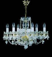 Хрустальная люстра для спальни, зала на 8 лампочек