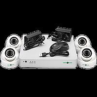 Камеры наблюдения для дома (Набор ) GreenVision GV-K-S12/04 1080P