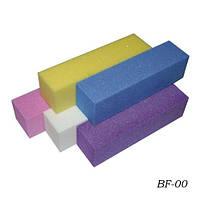 Баф для шлифовки Цветной четырехсторонний