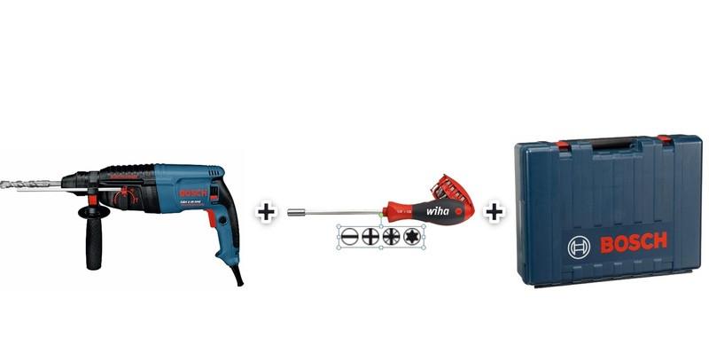 Набор перфоратор Bosch GBH 2-26 DRE + отвертка Wiha в подарок!
