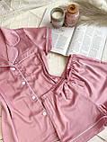 Женский шелковый пижамный костюм, фото 2