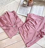 Женский шелковый пижамный костюм, фото 3