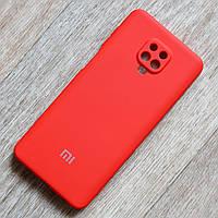 Силиконовый чехол для Xiaomi Redmi Note 9S, красный, мягкий внутри