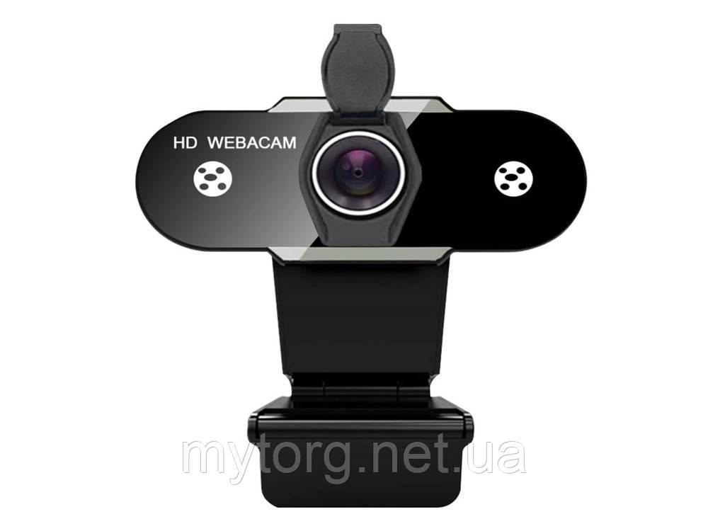 Веб камера прищепка для ПК Full HD 1080P с микрофоном