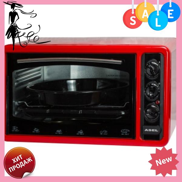 Духовка ASEL AF-0123 40-23 настольная красная | Электрическая духовая печь