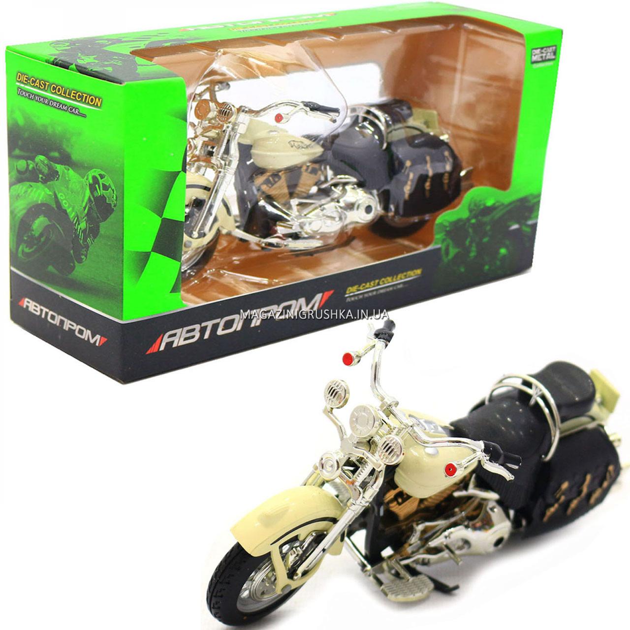 Мотоцикл Автопром HX-796, белый 16х5х10 см (7749)