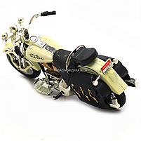 Мотоцикл Автопром HX-796, белый 16х5х10 см (7749), фото 5