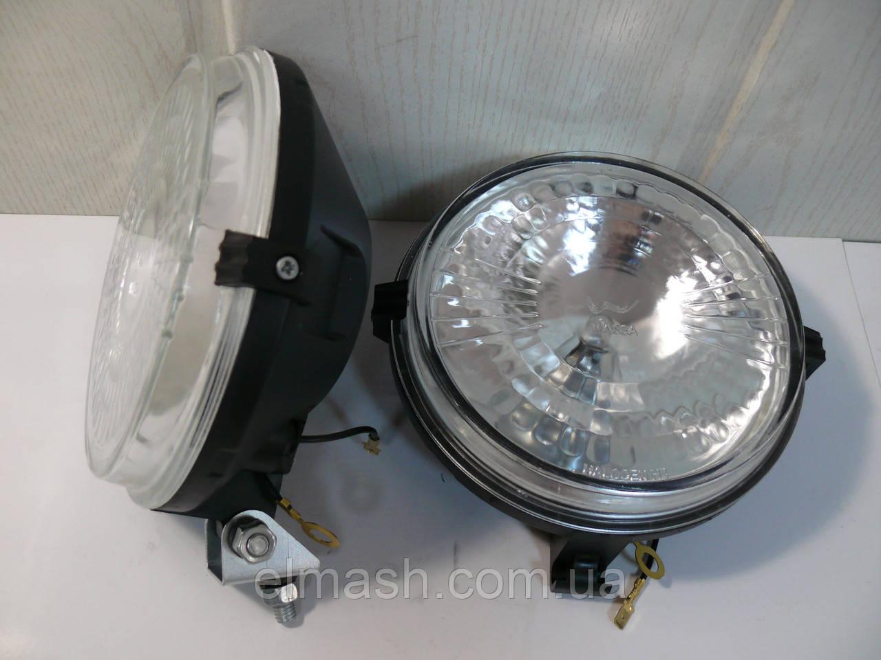 Фара противотуманная МТЗ круглая галогенная лампочка (бел. стекло) (пр-во Украина)