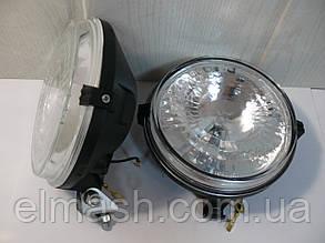 Фара противотуманная МТЗ круглая галогеновая лампочка (бел. стекло) (пр-во Украина)