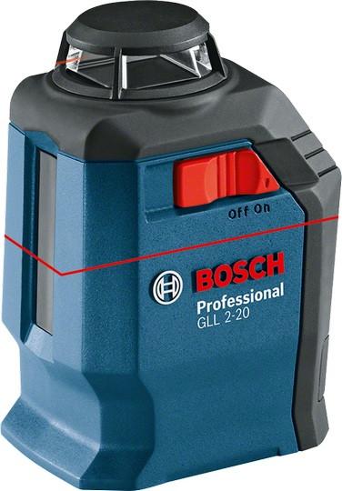 Bosch GLL 2-20 Professional Линейный лазерный нивелир + BM3 + кейс