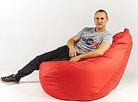 Кресло мешок пуфик груша красное XХL 150х100 см