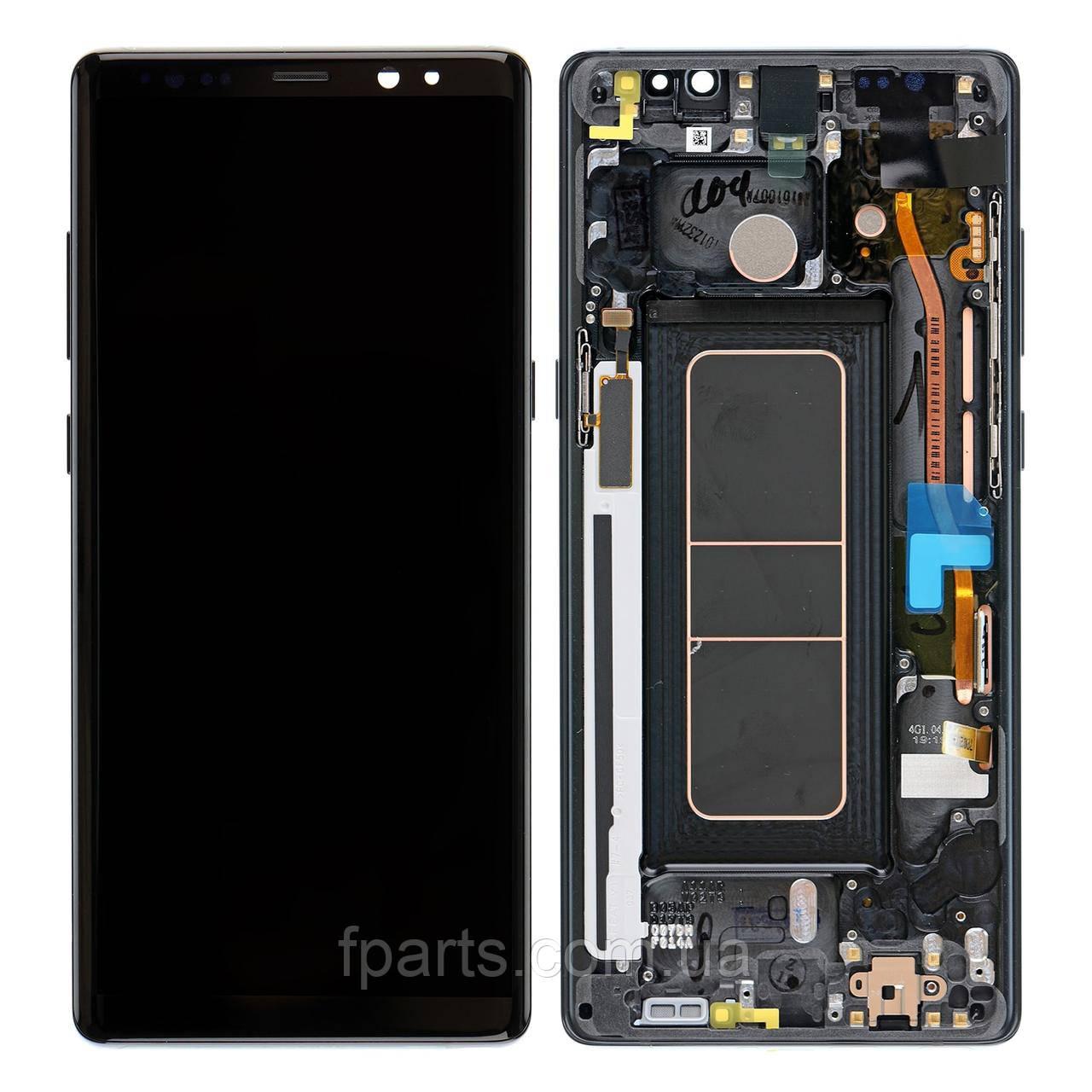 Дисплей Samsung N950 Galaxy Note 8 з тачскріном, передньою панеллю (Black) GH97-21065A Original