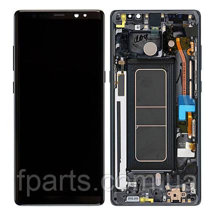 Дисплей Samsung N950 Galaxy Note 8 з тачскріном, передньою панеллю (Black) GH97-21065A Original, фото 2