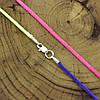Шнурок шелковый цвет розово-синий длина 45 см ширина 2 мм вес серебра 0.7 г, фото 4