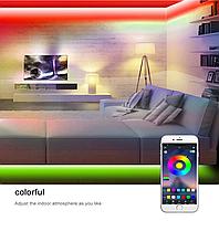 Bluetooth USB Світлодіодна стрічка 5м RGB з пультом ДУ