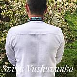 Квіткова чоловіча вишиванка, ефектна і кольорова «Дрібні рози», фото 2