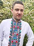 Квіткова чоловіча вишиванка, ефектна і кольорова «Дрібні рози», фото 3