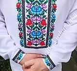 Квіткова чоловіча вишиванка, ефектна і кольорова «Дрібні рози», фото 6