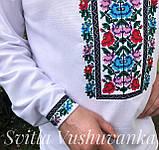 Квіткова чоловіча вишиванка, ефектна і кольорова «Дрібні рози», фото 5