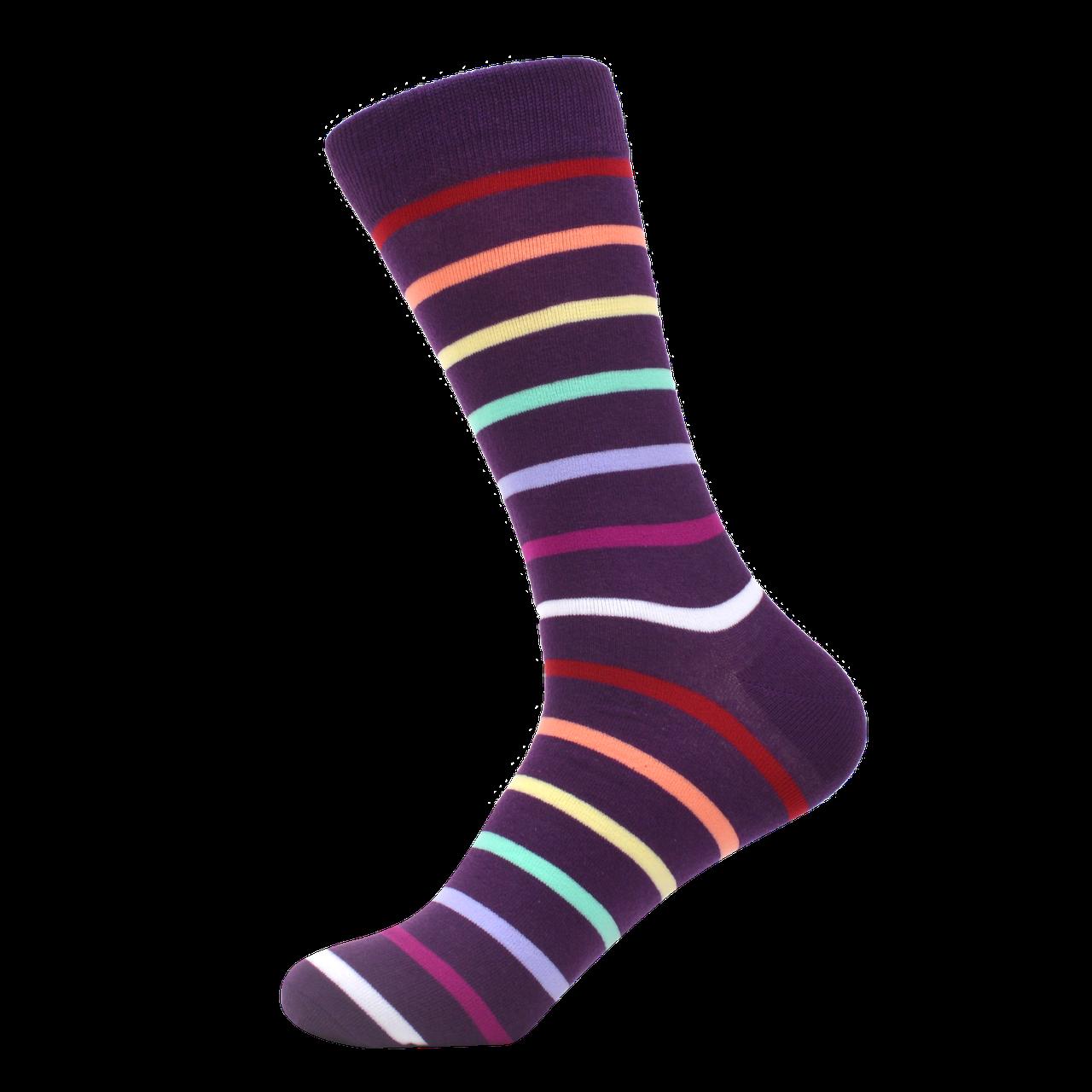 Высокие мужские цветные носки с принтом Sanzetti серии Narrow Stripes р. 40-45 HS-0029