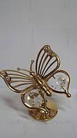 Статуэтка с камнями сваровски бабочка