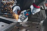Bosch GWS 18V-10 C, 2x5,0A шлифмашина угловая (06019G310D), фото 2