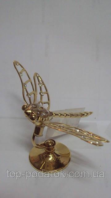 Статуэтка с камнями сваровски стрекоза