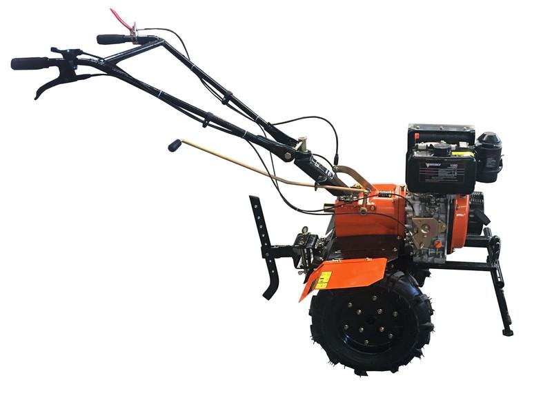 """Культиватор дизельный Forte 1050, колеса 10"""", 6,5 л.с. (оранжевый)"""