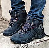 Зимние Кроссовки ADIDAS GORE-TEX Мужские Синие с МЕХОМ Ботинки Адидас (размеры: 41,42,45) ВидеоОбзор, фото 2