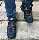 Зимние Кроссовки ADIDAS GORE-TEX Мужские Синие с МЕХОМ Ботинки Адидас (размеры: 41,42,45) ВидеоОбзор, фото 3