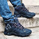 Зимние Кроссовки ADIDAS GORE-TEX Мужские Синие с МЕХОМ Ботинки Адидас (размеры: 41,42,45) ВидеоОбзор, фото 8