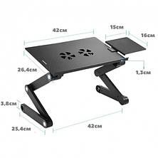 Столик для ноутбука раскладной трансформер Т8 с активным охлаждением (Laptop Table T8), фото 2