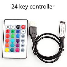 Контроллер для светодиодной ленты  RGB c пультом ДУ