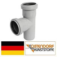 Тройник PP 75/50х87 внутренней канализации Ostendorf HT Германия