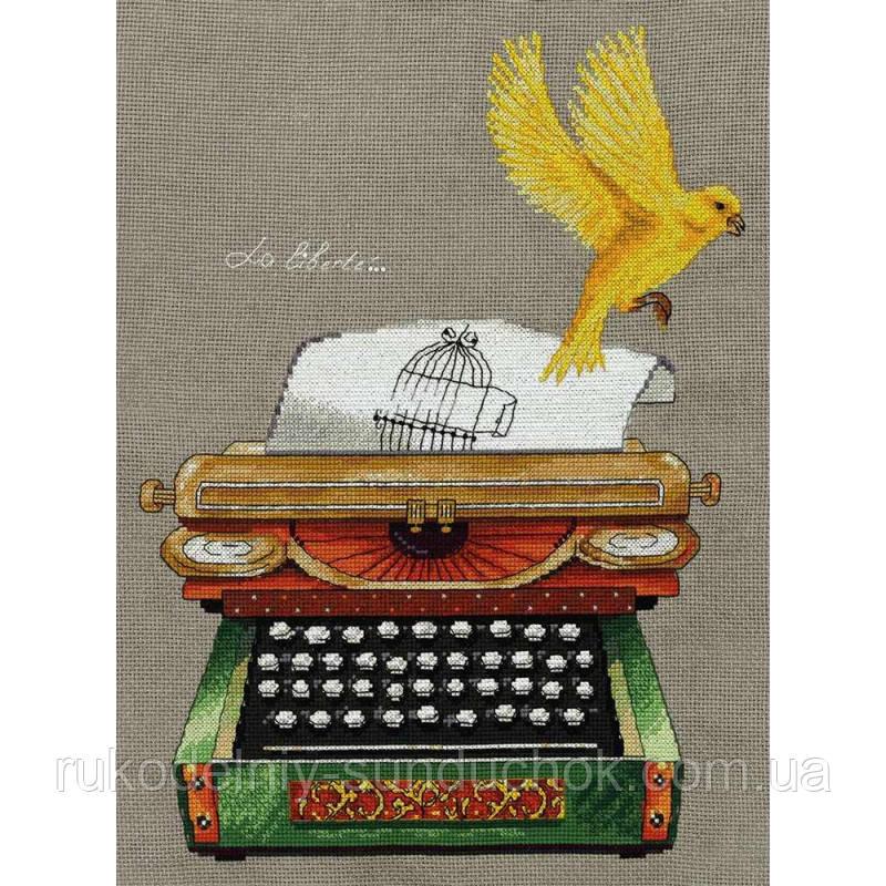 Набор для вышивания крестом Ожившая история. Печатная машинка РЕ-7049