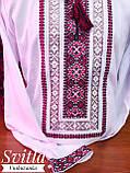 Мереживна традиційно червоно-чорна вишиванка для справжніх чоловіків «Мережка», фото 2