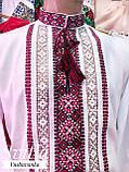 Мереживна традиційно червоно-чорна вишиванка для справжніх чоловіків «Мережка», фото 3