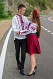 Мереживна традиційно червоно-чорна вишиванка для справжніх чоловіків «Мережка», фото 7