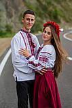 Мереживна традиційно червоно-чорна вишиванка для справжніх чоловіків «Мережка», фото 8