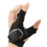 Перчатка с подсветкой на пальцах Hands Free | Рукавичка з підсвічуванням на пальцях