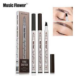 Карандаш-маркер для бровей Music Flower Fine Sketch