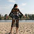 НАКИДКА пляжная - Сезон 2020 - ХИТ продаж Размер S-M-L-XL Универсальный Отличное Качество - Парео, фото 2