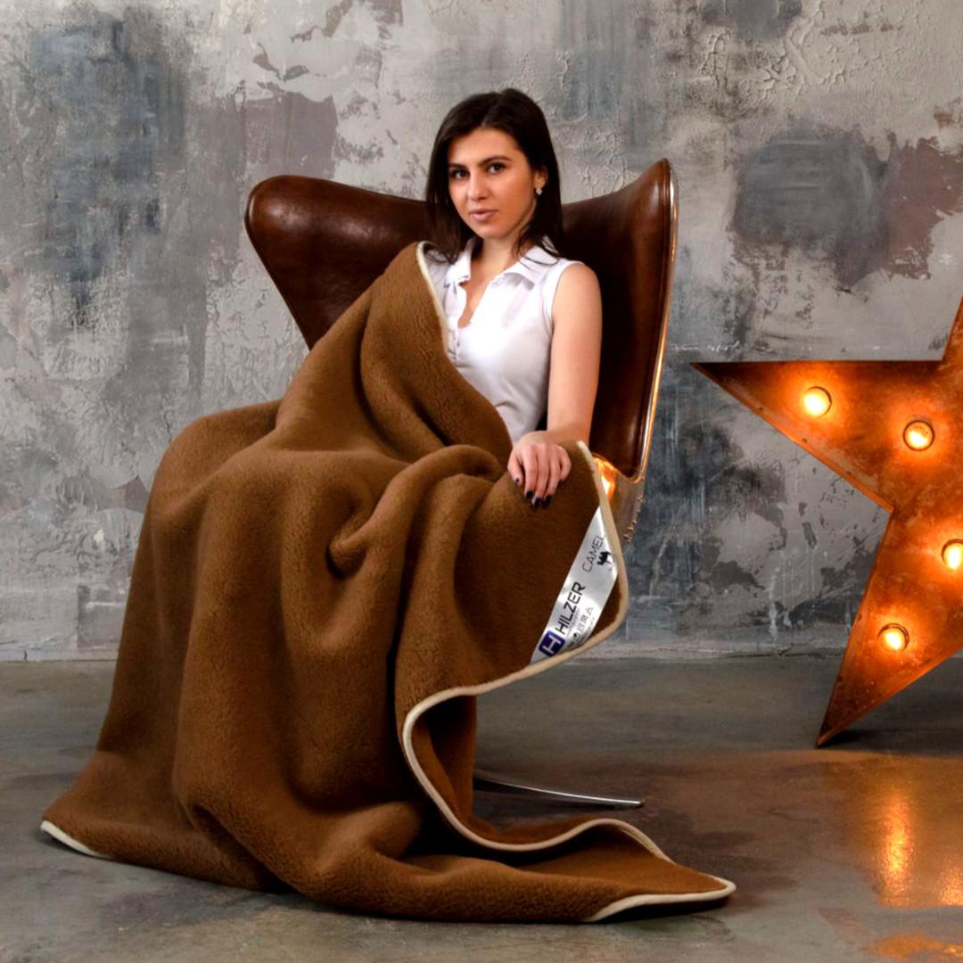 Подарунок. Ексклюзивна ковдра з вовни мериносів. шерсть/шерсть. Різні розміри