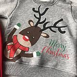 Теплий новорічний костюм на хлопчика і дівчинку 8. Розмір 68 см, 74 см, 80 см, 86 см, фото 2
