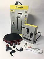 Спортивные беспроводные Bluetooth наушники Awei AK4 Black   Спортивні бездротові навушники